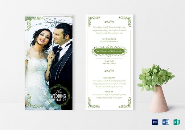 Simple Wedding Invitation Sample
