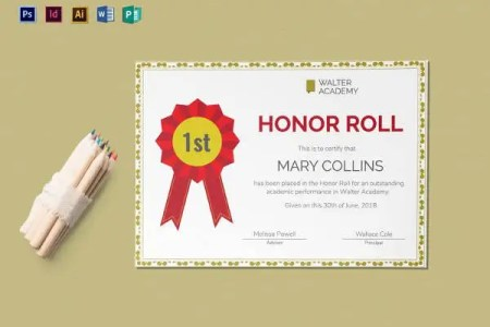 honor roll certificate template word   Bire 1andwap com honor roll certificate template word