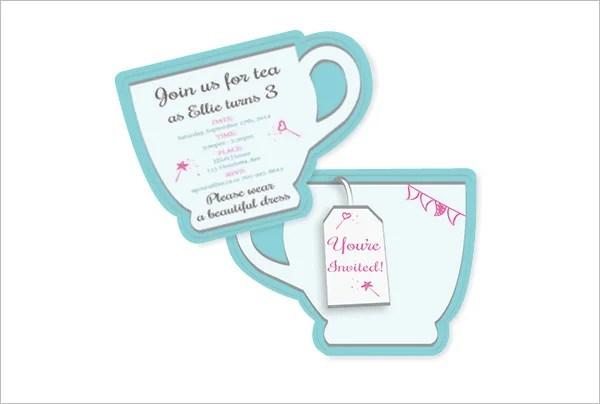 High Tea Shower Invitations