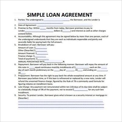27+ Loan Contract Templates – Word, Google Docs, Apple ...