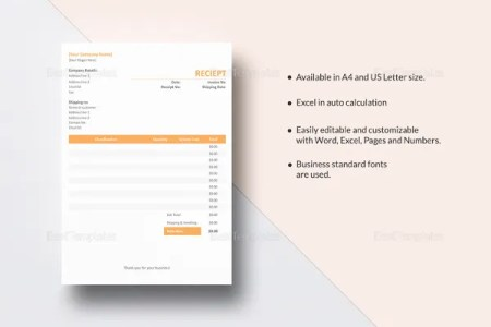 14  Contractor Receipt Templates   DOC  PDF   Free   Premium Templates contractor receipt template