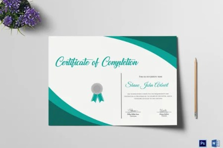 18  Graduation Certificate Templates   Word  PDF Documents Download     Graduation Completion Certificate Template Word