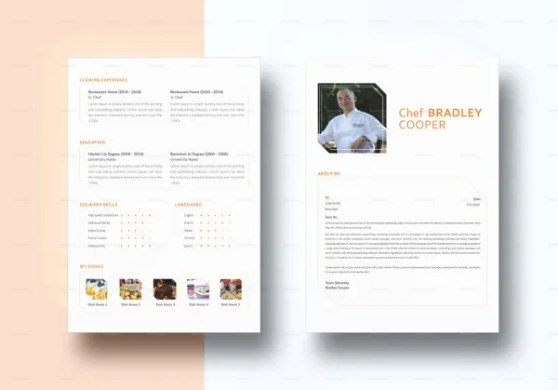 13  Chef Resume Templates   DOC  PSD  PDF   Free   Premium Templates InDesign Chef Resume Template