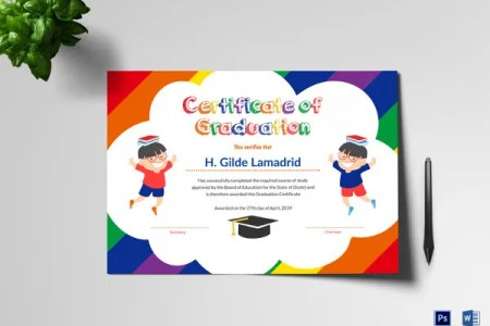 Preschool Certificate Template   16  Free Word  PDF PSD Format     Pre School Graduation Certificate in Word