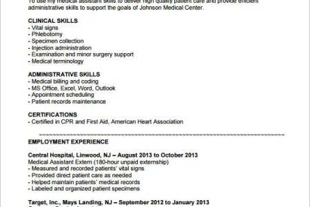 objective for medical assistant on resume » Full HD MAPS Locations ...