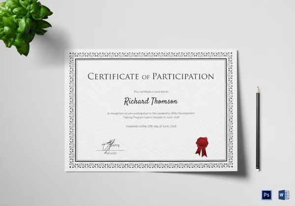 images for training certificate template powerpoint