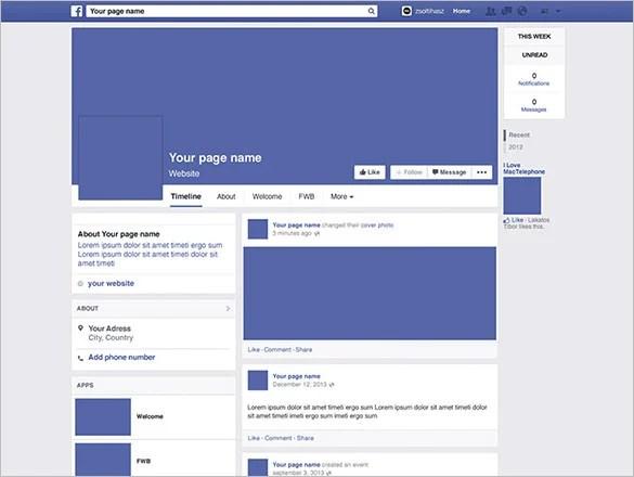 Facebook Banner Profile Layout