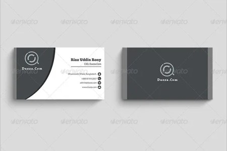Visiting Card Template   19  Free Sample  Example Format Download     Modern Visiting Card PSD Design