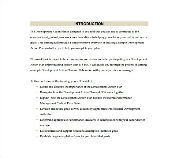 Action Plan Template Word Free