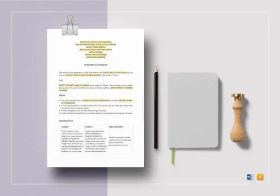 Free Rental Agreement Template   20  Free Word  PDF Documents     House Rental Agreement Template