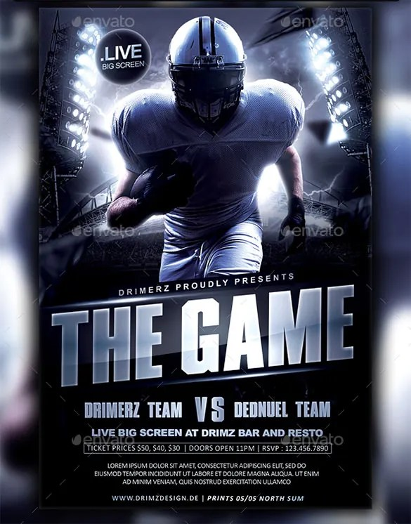 football flyer templates free   Fast lunchrock co football flyer templates free