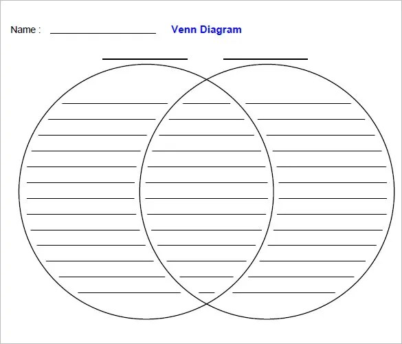 Venn Diagram With Lines Template