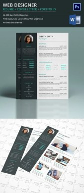 Web Designer Resume   Cover Letter   Portfolio Template for Fresher     Web Designer Resume Template