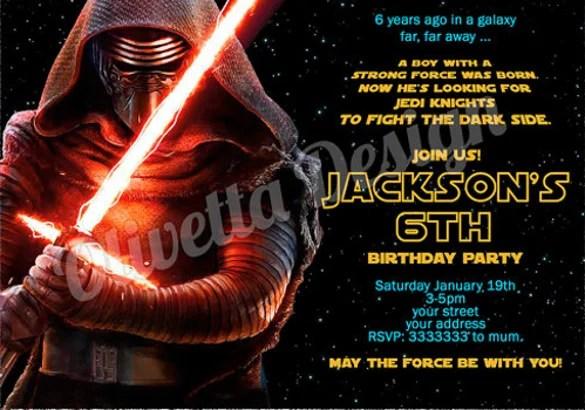 Star Wars Birthday Evite