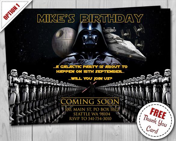 Birthday Invitations Star Wars