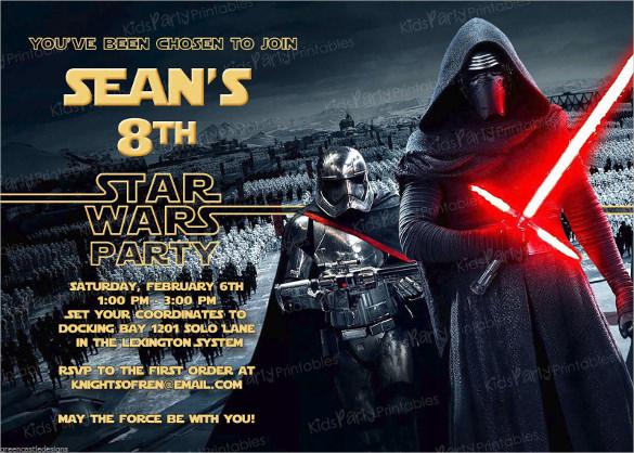 Star Wars Rebels Birthday Invitations