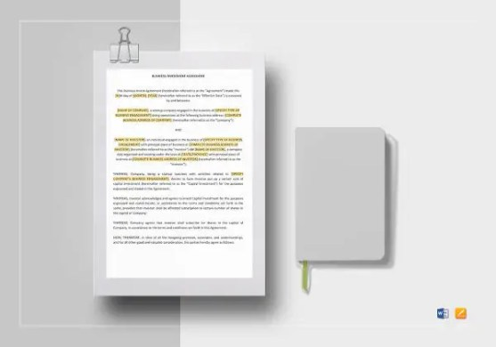 408  Agreement Templates     Free Sample  Example  Format Download     Business Investment Agreement Template