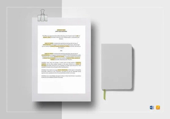 Sublease Agreement Template     15  Free Word  PDF Document Download     Office Lease Agreement Word Template