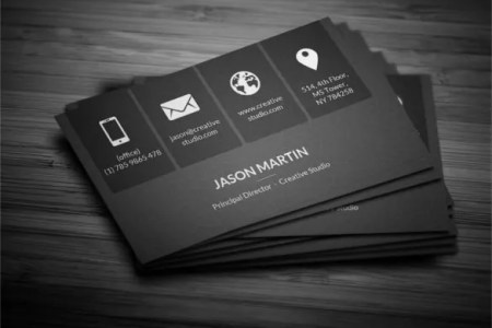 45  Cool Business Cards   PSD  EPS  Illustrator Format Download     Download Metro Dark Corporate Business Card Template