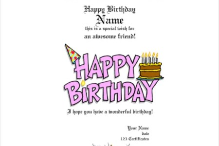 Free Birthday Gift Certificate Template Happy Printable Voucher