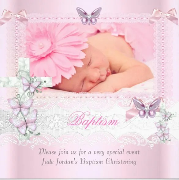 Christening Invitation Format