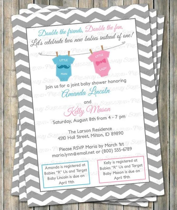 Baby Shower Invitations Custom