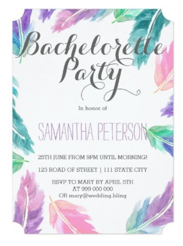 Sample Bridal Shower Invitations