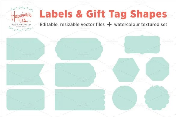 Template Label Tag Gift