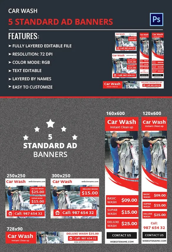 Car Wash Ad Banner Free Amp Premium Templates