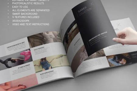 71  HD Brochure Templates   Free PSD Format Download   Free     landscape brochure mock up template psd download