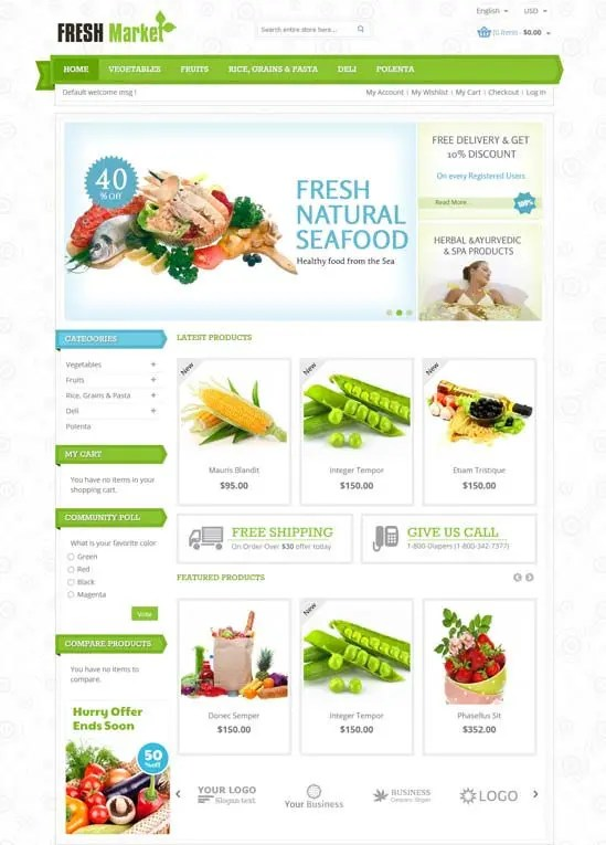 Direct Home Grocery Website