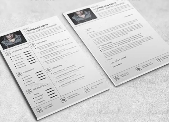 41  One Page Resume Templates   Free Samples  Examples    Formats     One Page Resume Template with Cover Letter