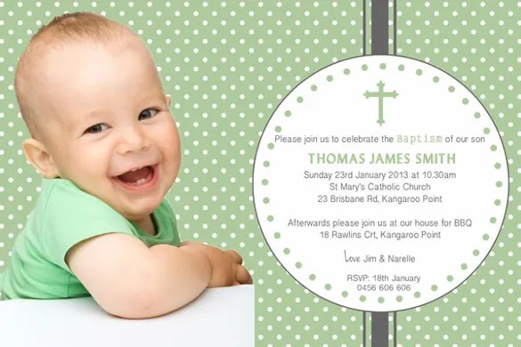 Cheap Baptism Invitations