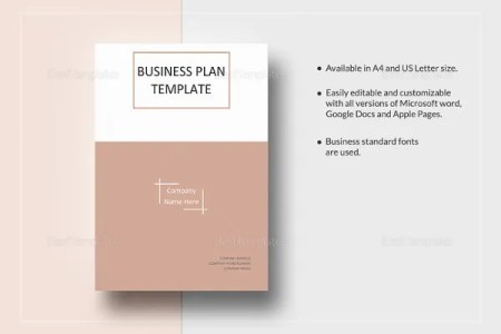 Business Plan Templates   43  Examples in Word   Free   Premium     One Page Business Plan Word