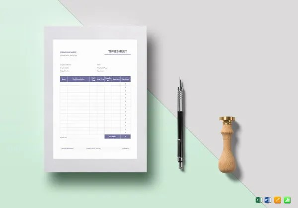 21  Monthly Timesheet Templates   Free Sample  Example Format     Simple Timesheet Template