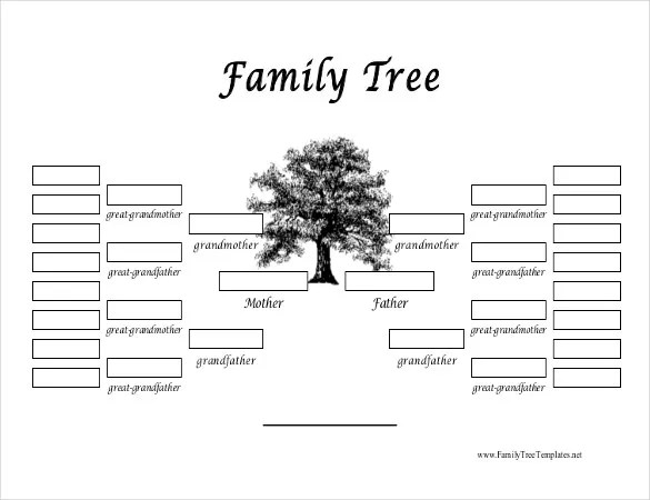 35+ Family Tree Templates - Word, PDF, PSD, Apple Pages ...