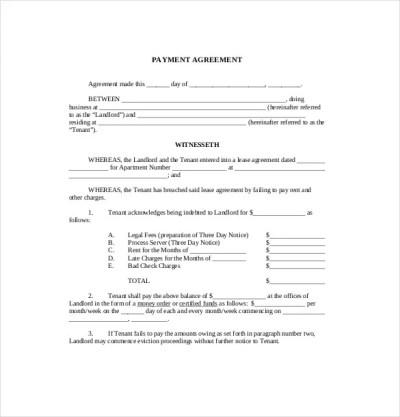 22+ Payment Agreement Templates - PDF, Google Docs, Pages ...