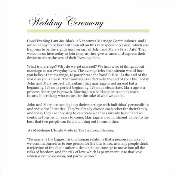 26+ Wedding Ceremony Program Templates - PSD, AI, InDesign ...