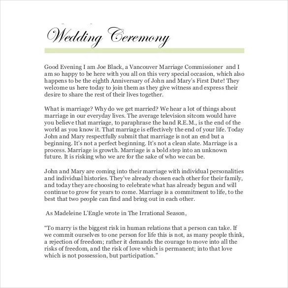 Ministers Marriage Ceremonies
