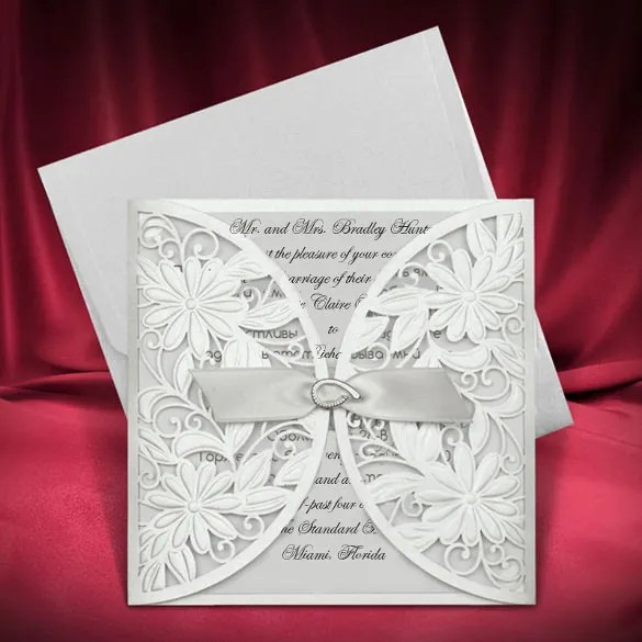 Simple Marriage Invitation Card Design