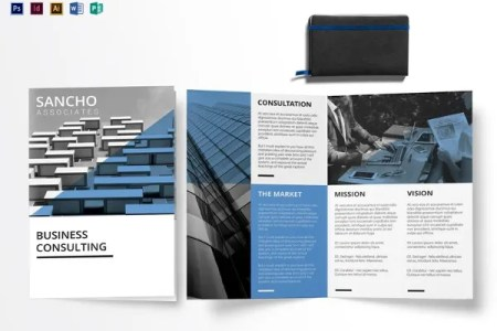 Creative Brochure Templates     32  Free PDF  PSD  AI  Vector EPS     Business Consulting Bi fold Brochure Template