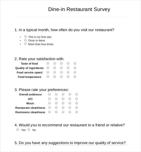 mcdonalds survey questions