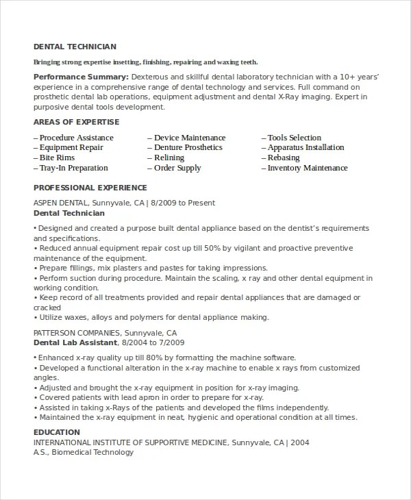Lab Technician Resume Template 11 Free Word Pdf