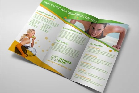 15  Gym Brochure Templates   Free PSD  AI  Vector  EPS Format     Sports Gym Tri Fold Brochure Template