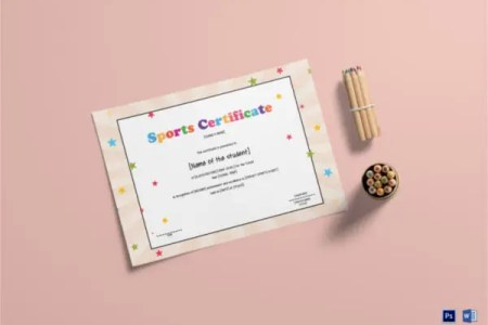Kids Sports Certificate   5  Word  PSD Format Download   Free     Best Kids Sports Certificates