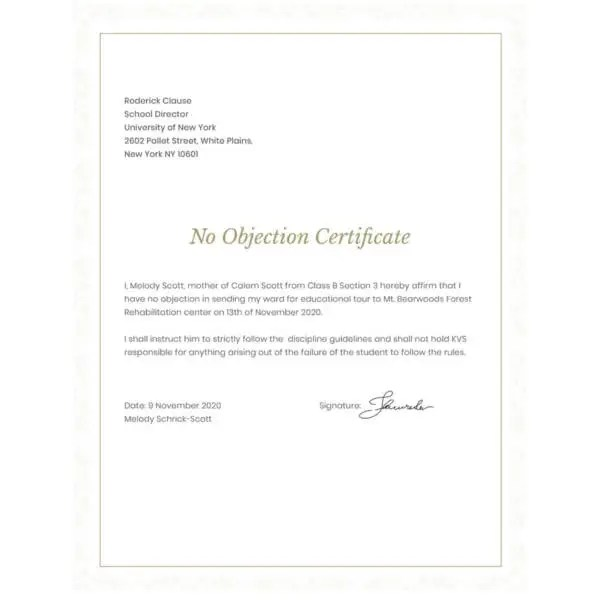 No objection letter format for bank design templates example letter noc letter format to bank manager new housing society electricity meter connection transfer noc spiritdancerdesigns Image collections