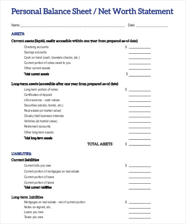 Free Trial Balance Worksheet Template