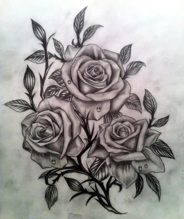 20+ Drawings Of Roses - Free PSD, AI, EPS Format Document ...