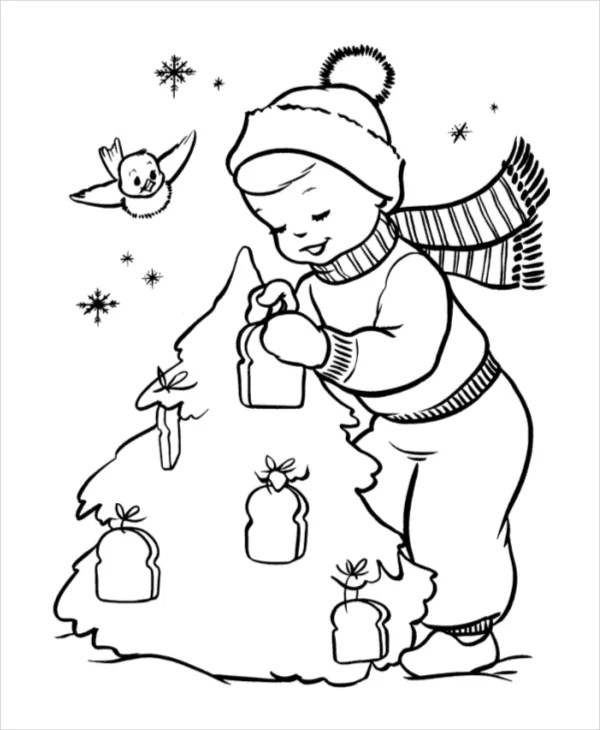 24+ Christmas Coloring Pages - Free PDF, Vector, EPS, JPEG ...