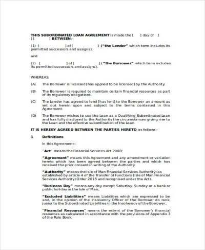 Loan Agreement Template - 18+ Free Word, PDF Document ...